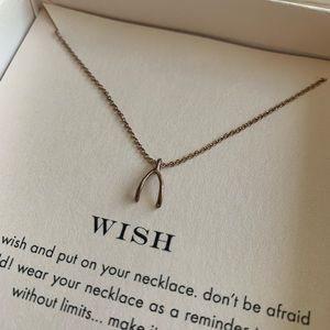 💖Rose-gold Dogeared Wishbone necklace💖